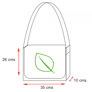 organic cotton shoulder bag dimensions